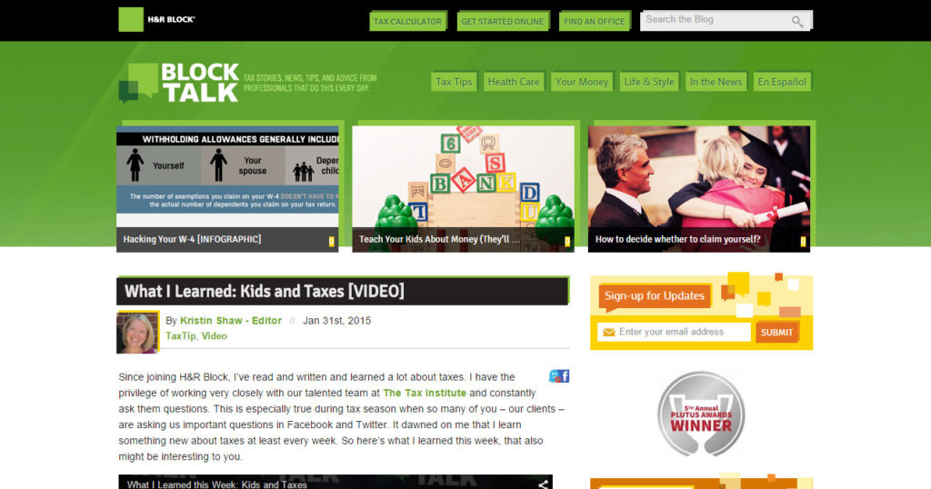 Block Talk - H&R Block