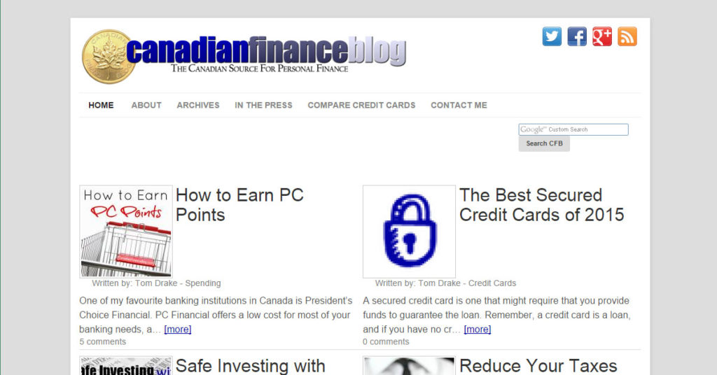 Canadian Finance Blog