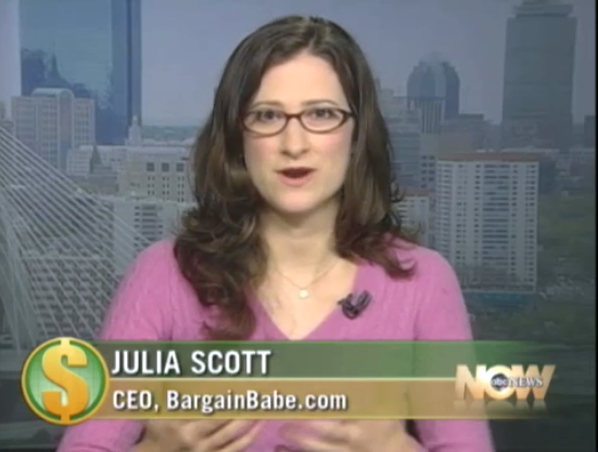 Julia Scott, appearance on ABC's Money Matters