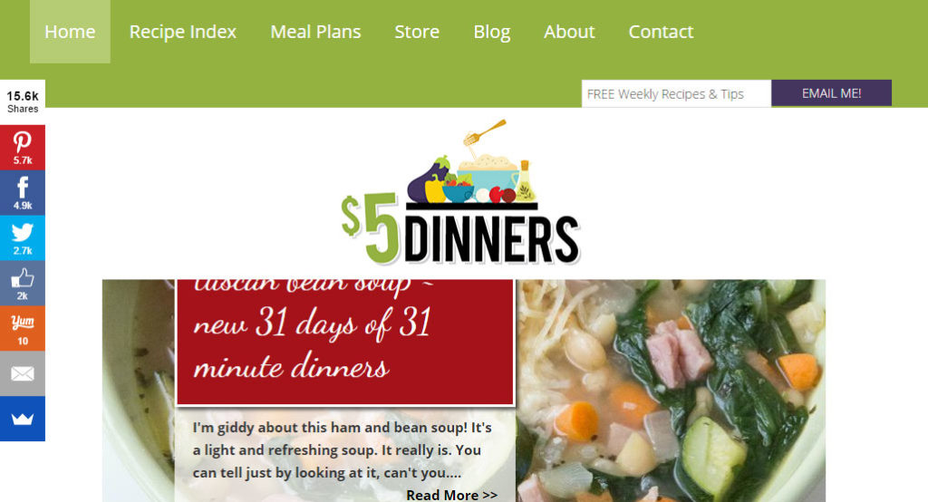 $5 Dinners