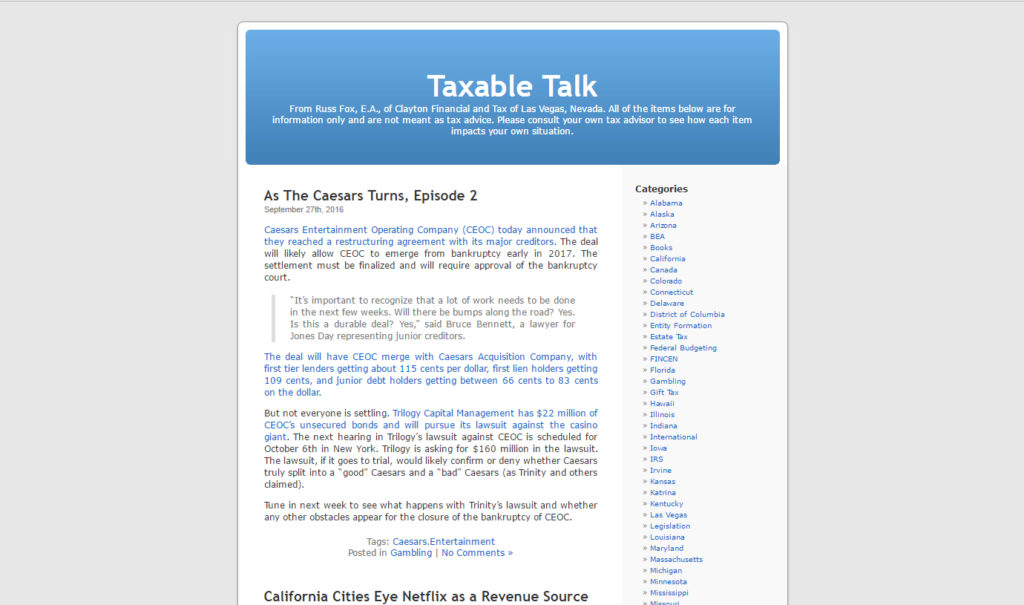 Taxable Talk