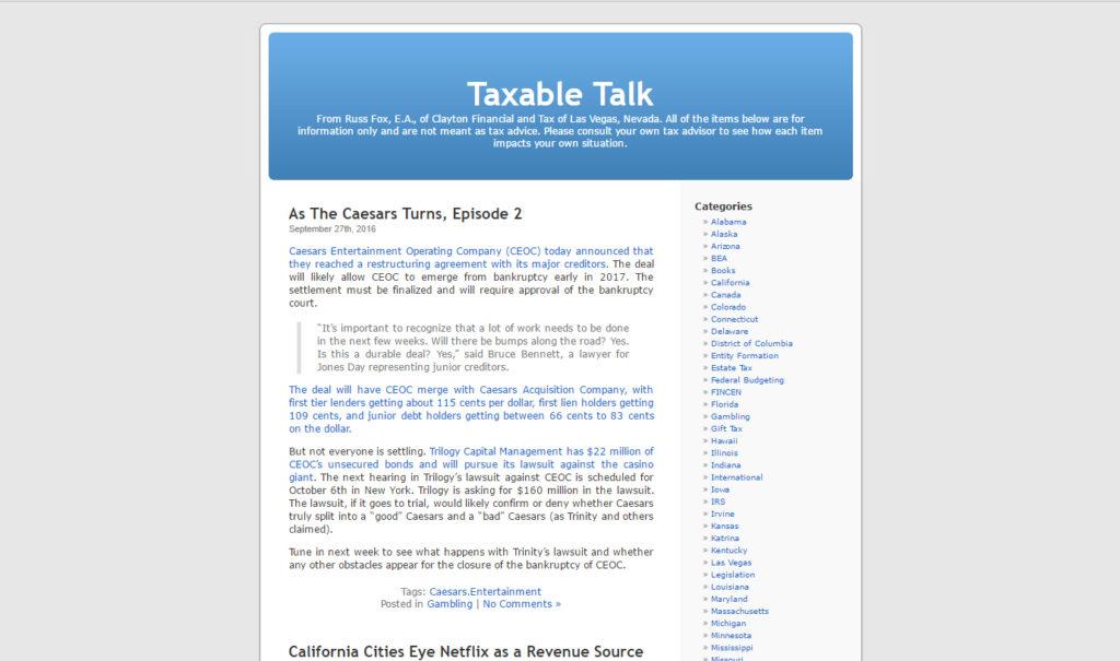Taxable Talk