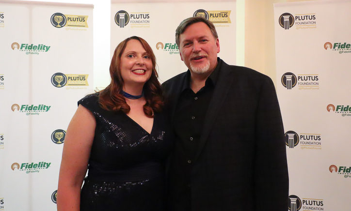Miranda and Steve at the 9th Annual Plutus Awards