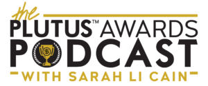 Plutus Awards Podcast With Sarah Li Cain Logo